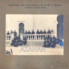 Fotografía antigua: CASTILLEJA DE LA CUESTA,SEVILLA,1922, COLEGIO LAS IRLANDESAS, MAGNIFICA,170X116MM SIN CARTON. Lote 44440395