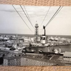 Fotografía antigua: PRECIOSA FOTOGRAFIA ANTIGUA ORIGINAL, REALIZADA EL AÑO 1964. BARCELONA, PUERTO,TELEFERICO,.. 24X18CM. Lote 44616085