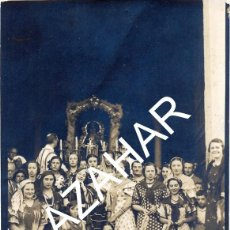 Fotografía antigua: UTRERA, 1937,GUERRA CIVIL, SANTUARIO DE LA VIRGEN DE CONSOLACION, RARISIMA,84X118MM. Lote 44660013