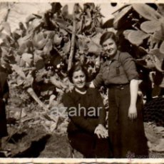 Fotografía antigua: VILLALBA DEL ALCOR, HUELVA,1938, MUJERES VESTIDAS DE FALANGE,82X55MM. Lote 44663633