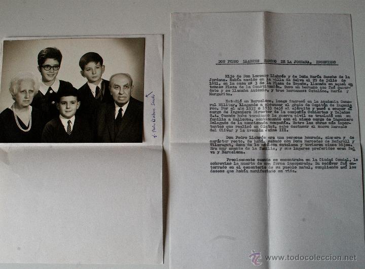 Fotografía antigua: FOTOGRAFIA FAMILIAR ORIGINAL DE PEDRO LLABRES SANCHO DE LA JORDANA + DATOS BIOGRAFICOS - Foto 2 - 44892056