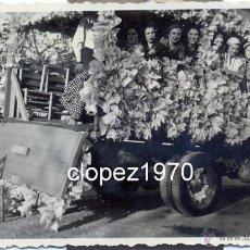 Fotografía antigua: DOS HERMANAS, SEVILLA, ROMERIA DE VALME, ANTIGUA FOTOGRAFIA DE UNA GALERA,110X67MM. Lote 45594906