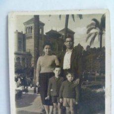 Fotografía antigua: MINUTERO DE FOTOGRAFO AMBULANTE DE FAMILIA, PARQUE Mª LUISA DE SEVILLA ......7 X 9 CM. Lote 45667899