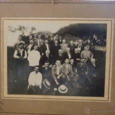 Fotografía antigua: FOTOGRAFIA ANTIGUA. BANQUETE DADO EN CADIZ POR INDUSTRIALES DE VALDALIGA. LEER. 34 X 27CM.. Lote 45698411