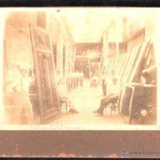 Fotografía antigua: ANTIGUA FOTOGRAFIA DEL TALLER DE CARPINTERIA. BENITO BARROS FREIJEIRO. HABANA, CUBA. 22 X 16CM.. Lote 45810910