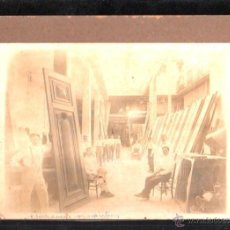 Fotografía antigua: ANTIGUA FOTOGRAFIA DEL TALLER DE CARPINTERIA. BENITO BARROS FREIJEIRO. HABANA, CUBA. 22 X 16CM.. Lote 45810959