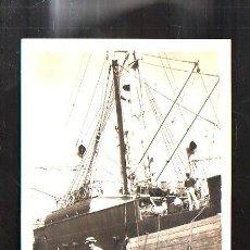 Fotografía antigua: ANTIGUA FOTOGRAFIA DE VAPOR CORREO Y DE CRUCERO MANUEL ARNUS. 13 X18CM.. Lote 45827791