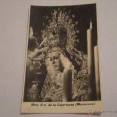 Fotografía antigua: ANTIGUA FOTOGRAFIA NTRA.SRA,ESPERANZA.MACARENA.SEMANA SANTA 1960.ESTUDIOS HARETON,SEVILLA.. Lote 45997953