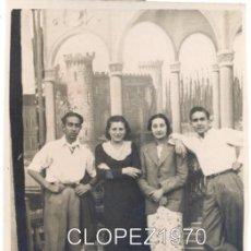 Fotografía antigua: REINOSA.LOS CAJIGALES, 1935, FOTOGRAFIA DE DOS PAREJAS, 64X88MM. Lote 46134079