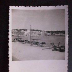 Fotografía antigua: FOTO DE MALLORCA . PLAYA DE PORTO CRISTO,. AÑOS 50-60 .... 6 X 9 CM. Lote 46162206