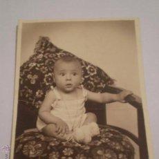 Fotografia antica: ANTIGUA FOTOGRAFIA DE NIÑO.FOTOS GOYA.MADRID,1933. Lote 46196980