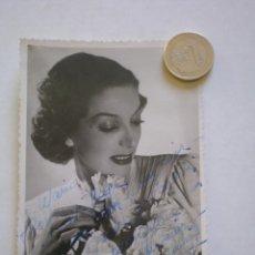 Fotografía antigua: RETRATO O FOTOGRAFIA, ARTISTA ACTRIZ DE TEATRO, FIRMADA Y DEDICADA AL ACTOR PEPE VILLETA . Lote 46200940