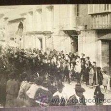Fotografía antigua: LORCA FOTOGRAFIA DE ENTIERRO DE PERSONAJE LORQUINO FOTOGRAFO MENCHON MURCIA. Lote 46214002