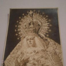 Fotografía antigua: ANTIGUA FOTOGRAFIA SRA ESPERANZA MACARENA.ESTUDIOS HARETON.SEVILLA.AÑOS 50?. Lote 46235136
