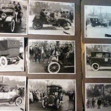Fotografía antigua: LOTE 30 FOTOS RALLY BARCELONA SITGES . AÑO 1960 COCHES ANTIGUOS HISPANO SUIZA CLASICOS. Lote 46244448
