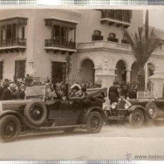 Fotografía antigua: FOTOGRAFIA DE SS.MM. LOS REYES DE ESPAÑA EN LA EXPOSICION IBERO-AMERICANA. PABELLON DE CUBA.. Lote 46246416