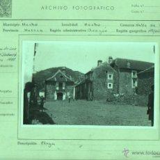 Fotografía antigua: FOTO DE HECHO PREPIRINEO CENTAL HUESCA - VALLE DE HECHO PLAZA - UNIVERS. GEOLIGICA DE BARNA 1951. Lote 46365182