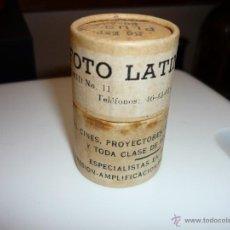 Fotografía antigua: CAJITA ANTIGUA PARA NEGATIVOS *FOTO LATINA, S.A.*. Lote 46399119