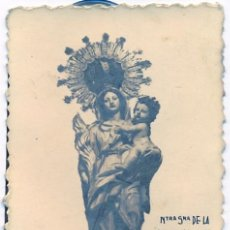 Fotografía antigua: ANTIQUISIMA FOTOGRAFIA DE NTRA.SRA. DE LA PALMA, PATRONA DE ALGECIRAS,FOT.WANDA,55X90MM. Lote 46480581