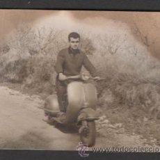 Fotografía antigua: (ALB-TC-23) ANTIGUA FOTO VESPA 1963 GRAÑENA LERIDA LLEIDA. Lote 46547282
