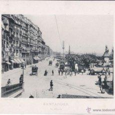 Fotografía antigua: SANTANDER. EL MUELLE - FOTOTIPIA DE HAUSER Y MENET, 1892 - 29,5 X 21,5 CM. Lote 46603188