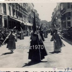 Fotografía antigua: SEMANA SANTA DE MALAGA,1935, DESFILE PROCESIONAL , CALLE LARIOS, 84X64MM. Lote 46772155