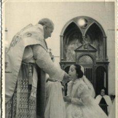 Fotografía antigua: CIUDAD RODRIGO ESTUDIO PRIETO. PRIMERA COMUNION. AÑOS 40. Lote 47346630