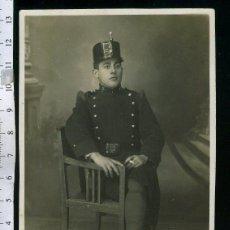 Fotografía antigua: FOTOGRAFIA MILITAR MUSICO DE INFANTERIA Nº 5 CON ROS DE HULE , EPOCAL DE ALFONSO XIII. Lote 47702357