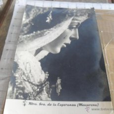 Fotografía antigua: FOTO FOTOGRAFIA SEMANA SANTA DE SEVILLA LA ESPERANZA MACARENA FOTO HARETON. Lote 47807201