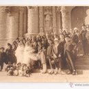 Fotografía antigua: ANTIGUA FOTOGRAFIA DE BODA AÑO 1925 JUAN GAMPER EN LA FOTO Y DEDICADA A EL. Lote 47954645