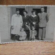 Fotografía antigua: FOTOGRAFIA FAMILIAR - FOTOGRAFIA BELLIDO - SABADELL. Lote 48322157
