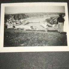 Fotografía antigua: LUARCA ASTURIAS ANTIGUA FOTOGRAFIA AÑOS 30 VISTA. Lote 48632665
