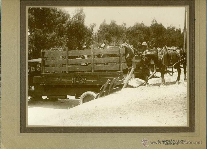 MILITAR. MARRUECOS. LARACHE. ARTILLERIA. HACIA 1930. LOTE 7 GRANDES FOTOS DE A. GAVILÁN. (Fotografía Antigua - Fotomecánica)