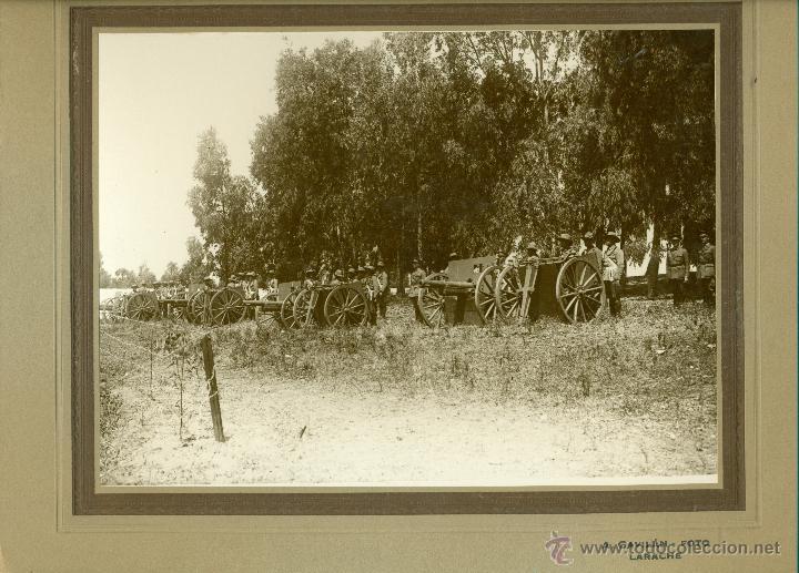 Fotografía antigua: MILITAR. MARRUECOS. LARACHE. ARTILLERIA. HACIA 1930. LOTE 7 GRANDES FOTOS DE A. GAVILÁN. - Foto 2 - 48759178