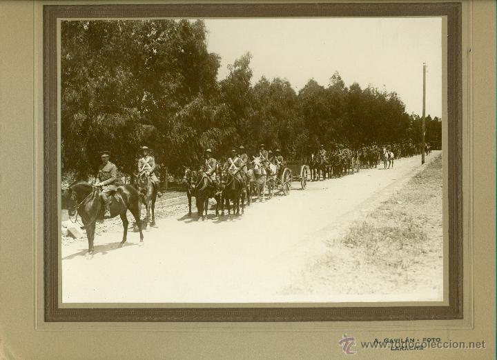 Fotografía antigua: MILITAR. MARRUECOS. LARACHE. ARTILLERIA. HACIA 1930. LOTE 7 GRANDES FOTOS DE A. GAVILÁN. - Foto 7 - 48759178