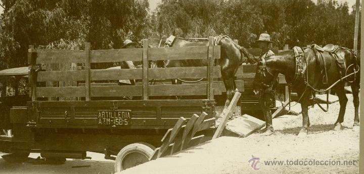 Fotografía antigua: MILITAR. MARRUECOS. LARACHE. ARTILLERIA. HACIA 1930. LOTE 7 GRANDES FOTOS DE A. GAVILÁN. - Foto 8 - 48759178