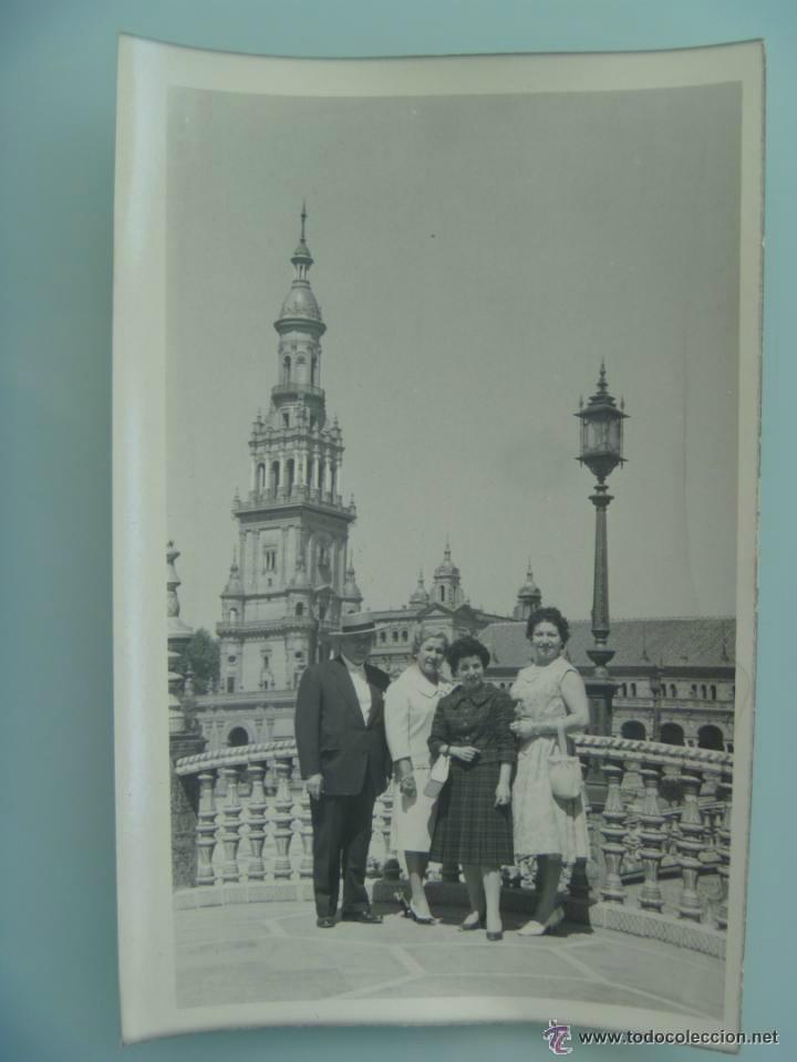 MINUTERO DEL FOTOGRAFO DEL PARQUE DE Mª LUISA DE SEVILLA, 1959: FAMILIA PLAZA ESPAÑA. (Fotografía Antigua - Fotomecánica)