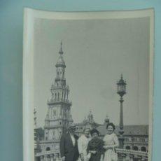 Fotografía antigua: MINUTERO DEL FOTOGRAFO DEL PARQUE DE Mª LUISA DE SEVILLA, 1959: FAMILIA PLAZA ESPAÑA.. Lote 48891749