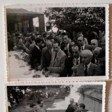 Fotografía antigua: 2 FOTOGRAFÍAS ORIGINALES DEL TERCER CONGRESO DE ARTES GRÁFICAS DE BARCELONA, JUNIO 1950. Lote 48988128