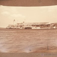 Fotografía antigua: CUBA. LA HABANA. CASTILLO DEL MORRO. 36 X 28CM.. Lote 49022947