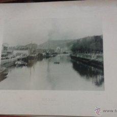 Fotografía antigua: BILBAO EL MUELLE DE RÍPA. AÑO 1891 HAUSER MENET FOTOTIPIA 21 X 15 CM. Lote 49474946