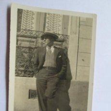 Fotografía antigua: HOMBRE ELEGANTE - ELEGANT MAN - HOMME ÉLÉGANT. Lote 49567678