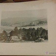 Fotografía antigua: PONTEVEDRA VISTA GENERAL. AÑO 1891 HAUSER MENET FOTOTIPIA. 21 X 15 CM . Lote 49684801