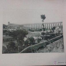 Fotografía antigua: VISTA GENERAL DEL ACUEDUCTO. SEGOVIA. AÑO 1891 HAUSER MENET FOTOTIPIA. 24 X 30 CM. Lote 49896438