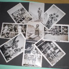 Fotografía antigua: LOTE DE FOTOGRAFÍAS DE BAÑISTAS EN GUERRA CIVIL. Lote 50066184