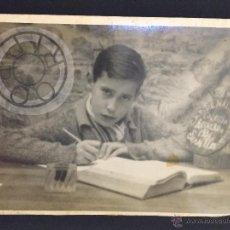Fotografía antigua: RECUERDO COLEGIO CARDENAL CISNEROS, SEVILLA, AÑO 1934, MEDIDAS 138X88MM. Lote 50088286