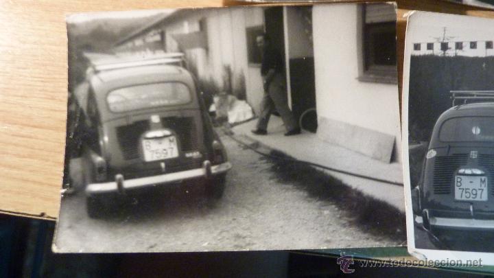 Fotografía antigua: lote 4 fotos fotografia coche 600 familia - Foto 2 - 50277209