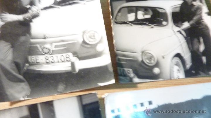 Fotografía antigua: lote 4 fotos fotografia coche 600 familia - Foto 3 - 50277209
