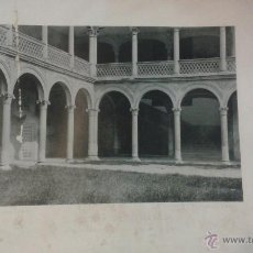 Fotografía antigua: LÁMINA 24 X 30 CM FOTOTIPIA HAUSER Y MENET. ALCALÁ DE HENARES. ARCHIVO GENERAL CENTRAL DETALLE PATIO. Lote 50348247