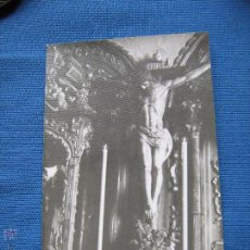 Fotografía antigua: ANTIGUA FOTOGRAFIA DE 9X14 DEL SANTISIMO CIRSTO DE LA BUENA MUERTE DE ALGECIRAS - FOTO FERNANDEZ. Lote 50348678